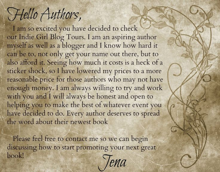 Indie Girl Promotions blog tours and PR