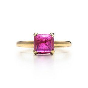 Paloma's Sugar Stacks ring with a rubellite in 18k gold, small.