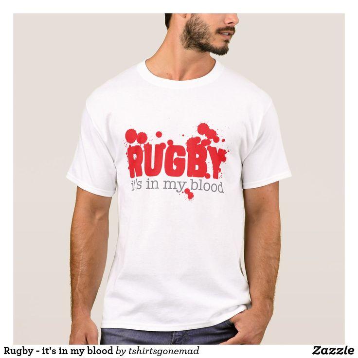 """Camiseta de hombre """"El Rugby está en mi sangre"""""""