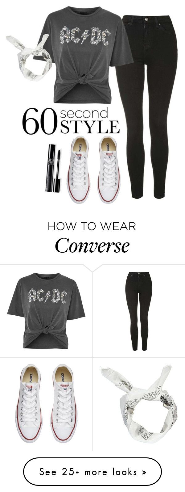 """""""rocker"""" by runnergirl-ab on Polyvore featuring Topshop, Converse and Boohoo"""