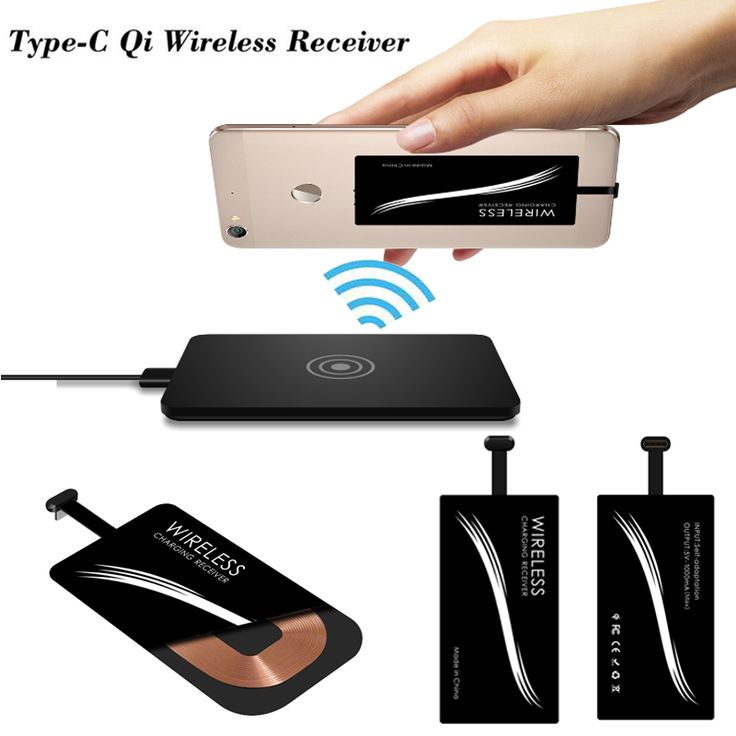 Universal Qi Standard Type-C Wireless Charger Receiver For Huawei P9 LG G5 Nexus 5X Xiaomi Mi4c Leeco Le2 fit All Type-C Phones