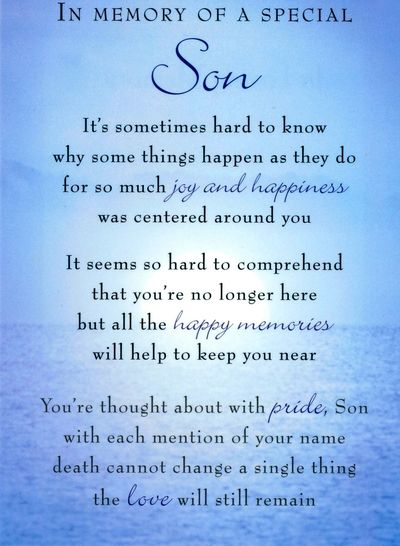 Words will not be enough to face the loss, the heartache can't be healed, but death of a son quotes will help you look back in memory to remember how angelic was your child.