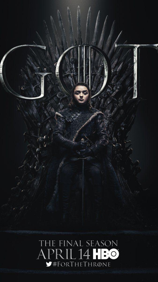 Arya Stark Maisie Williams Game Of Thrones Final Season Only 6 Episodes Premieres Th Game Of Thrones Poster Game Of Thrones Arya Got Game Of Thrones