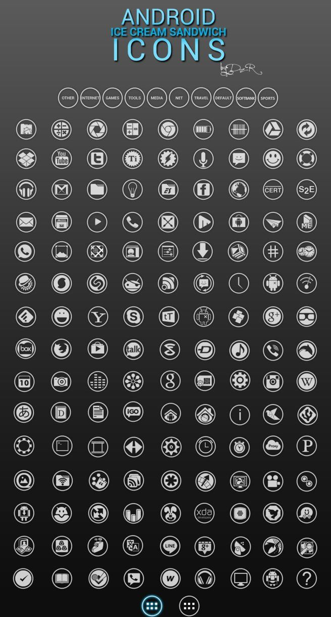 Android Ice Cream Sandwich Icons v3.1 by DzzR