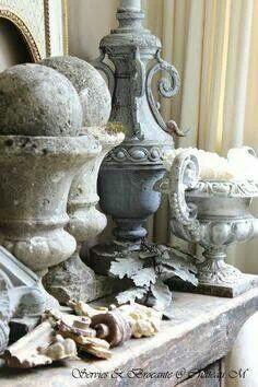 French grey urns