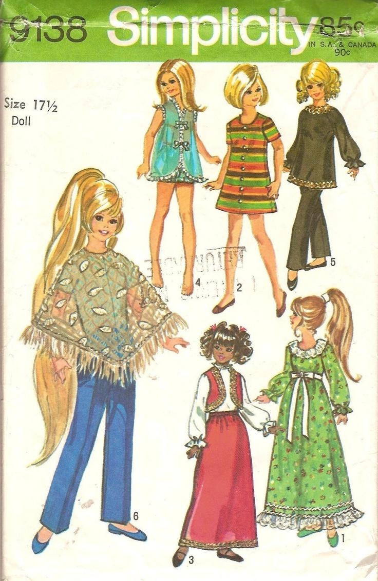Vintage 17.5 in CRISSY Doll Clothes Pattern