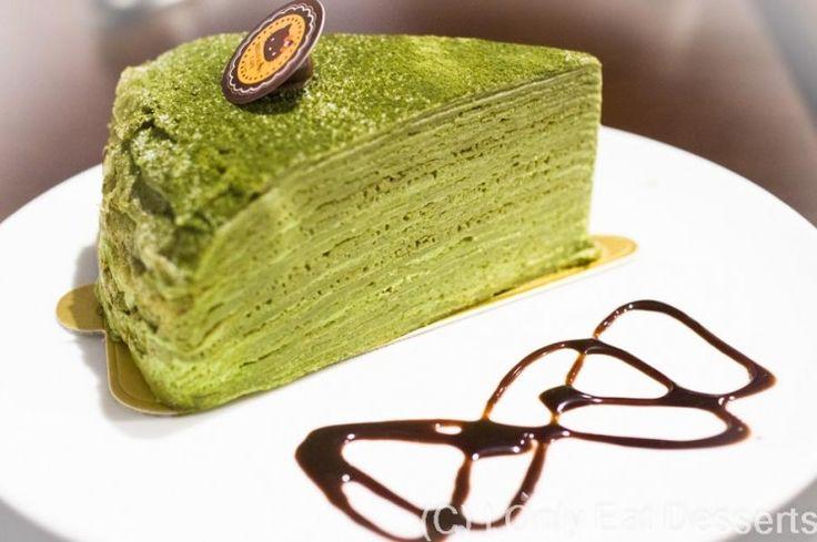 hello kitty green tea crepe cake