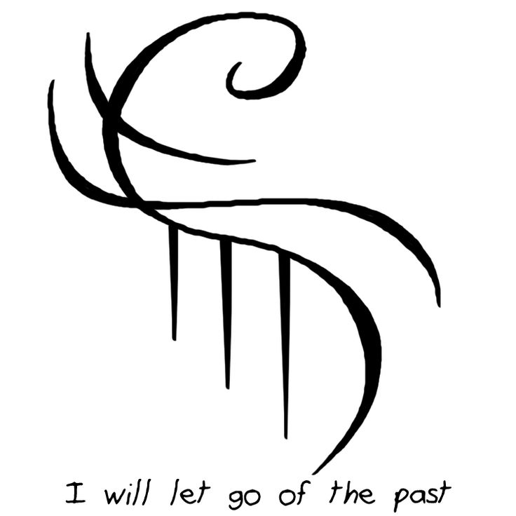 """not-so-little-baby-witch said: Also could you do one """" I will let go of the past"""" you are awesome, thank you Answer: """"I will let go of the past"""" sigil"""