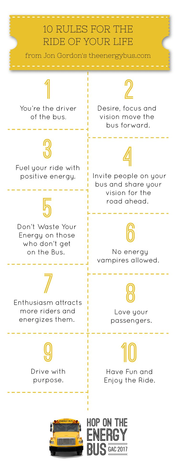 10 Rules for the Ride of Your Life - The Energy Bus!