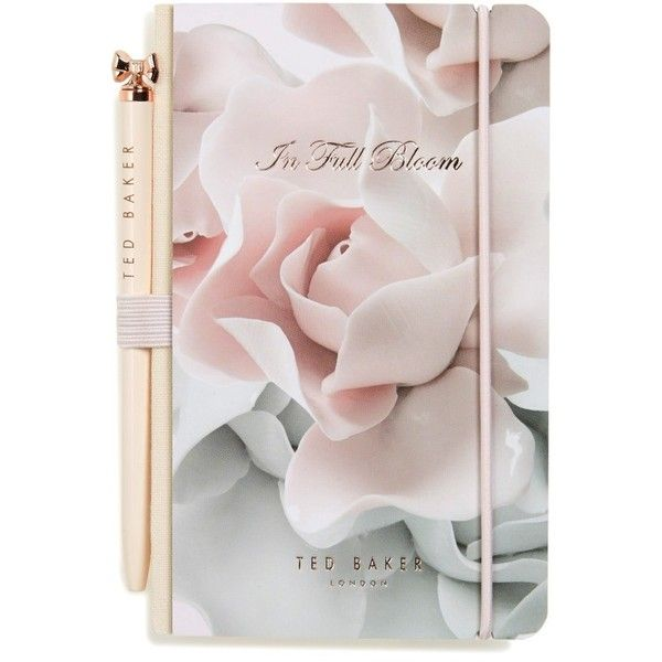 Women's Ted Baker London Mini Notebook & Pen Set ($20) ❤ liked on Polyvore featuring home, home decor, stationery and pink