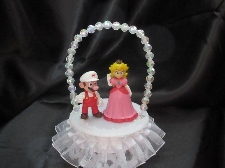 This Princess Peach And Mario Wedding Cake Topper Has Princess Peach And Mario From Mario