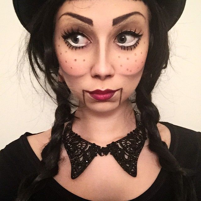 Anxiety is tamed by trying new things with makeup - today I tried ventriloquist…