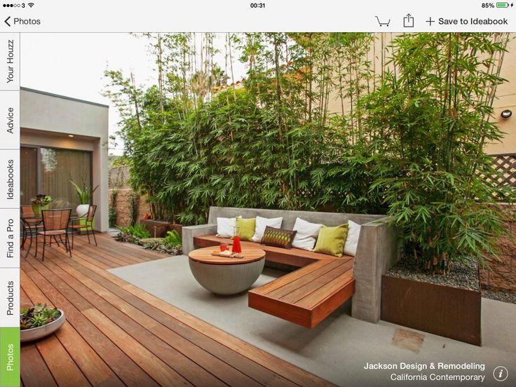 Bamboo Screen & Seating Area