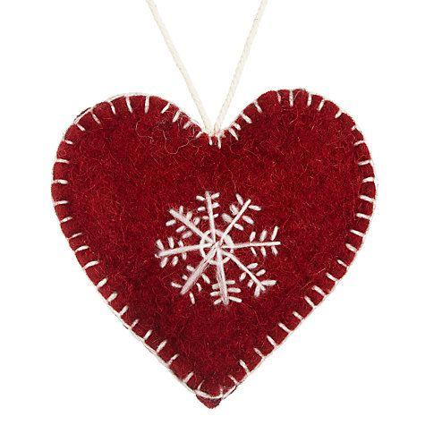Buy Fiona Walker Snowflake Heart, Red Online at johnlewis.com