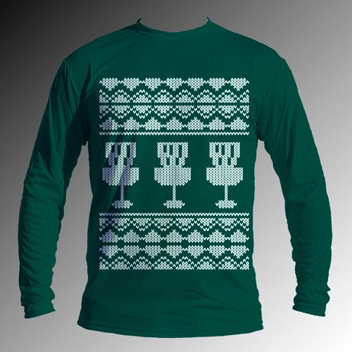 Christmas Sweater DriFit Jersey Disc Golf by DiscStore on Etsy, $34.95 [Want to get this for Rick this Christmas!]