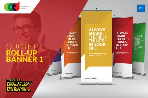 Quote It - Roll-Up Banner 1 by Cooledition on Creative Market