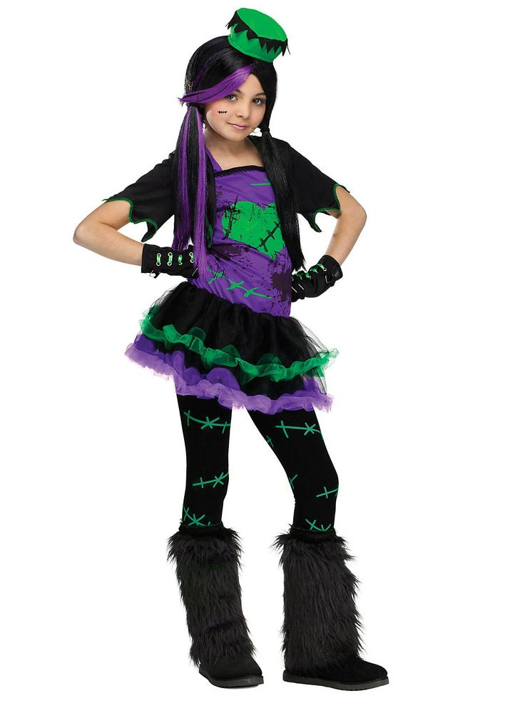 wear our funkie frankie girls costume and look different from the rest of the crowd in this horror monster inspired dress up outfit