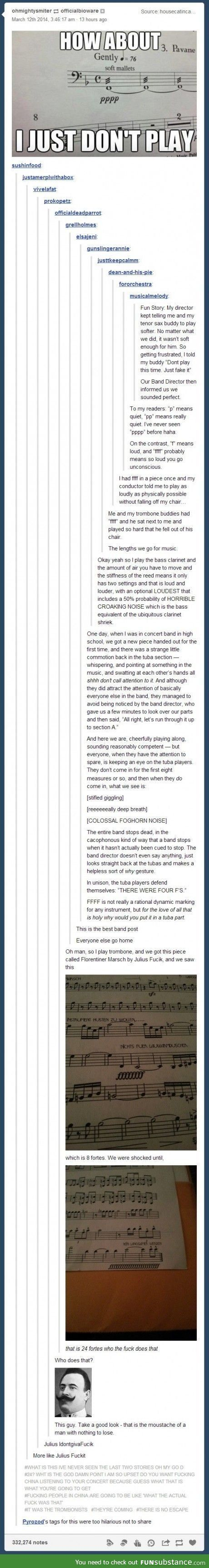I'm literally one of the most quiet ones in my band and I'm an alto sax player  <--- not my post but soo legit though. I'm an alto too.