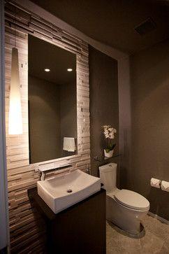 backsplash ??Pinebrook Residence - contemporary - powder room - cleveland - Ryan Duebber Architect, LLC
