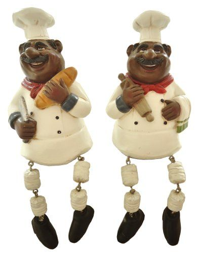 African American Ethnic Black Shelf Sitter Statues Figure