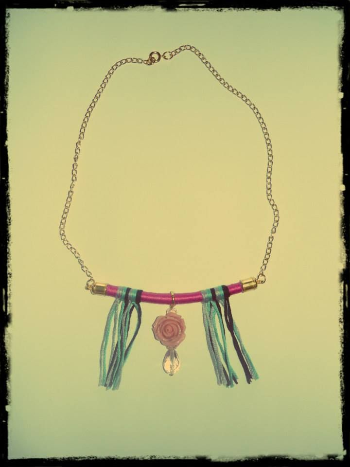 ~ Twirl Necklaces with Pink Rose ~