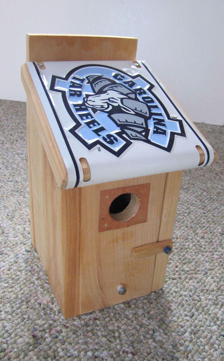 UNC Tar Heels Bird House - North Carolina License Plate Birdhouse - Bird House - Team bird house -  License Plate Bluebird House by FurTheBirds on Etsy
