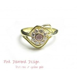 Pink Diamond Ring Design handcrafted in Oakura, New Zealand by jeweller Rob Wright.