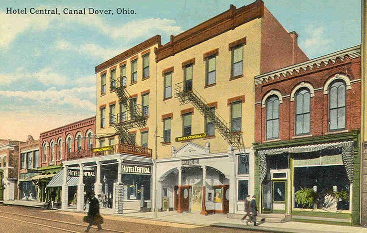 A Postcard Featuring The Hotel Central In Dover C Ohio History Pinterest And
