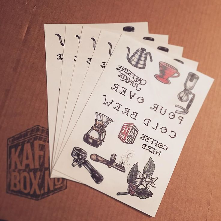Set of 5 specialty coffee temporary tatts are now for sale in the KaffeBox store  http://ift.tt/1TQ2wmJ world wide free shipping artwork by amazing @departmentofbrewology by kaffebox