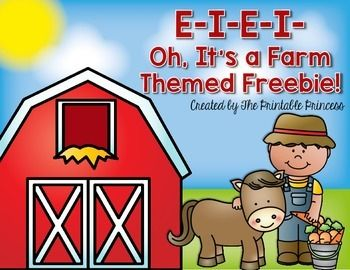 FREEBIE! A packet of farm-theme no prep math and literacy printables.