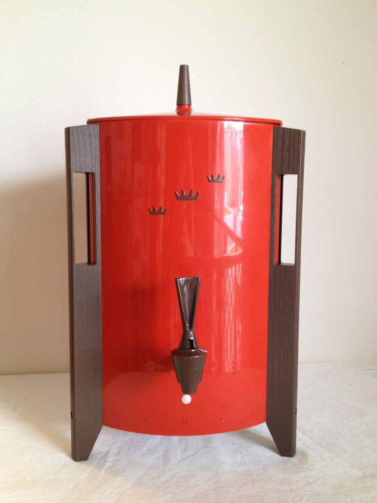 Vintage Coffee Pot Automatic Electric Regal Poly- Urn Large Coffee Maker  Red Atomic Crown Coffee Pot by TheLittleThingsVin on Etsy https://www.etsy.com/listing/153027958/vintage-coffee-pot-automatic-electric