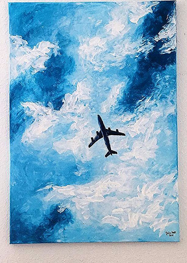 Plane Airplane Air Plane Drawing Acryl Acryl Air