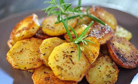 Zutaten und Zubereitung für das Rezept Ayurvedische Bratkartoffeln.