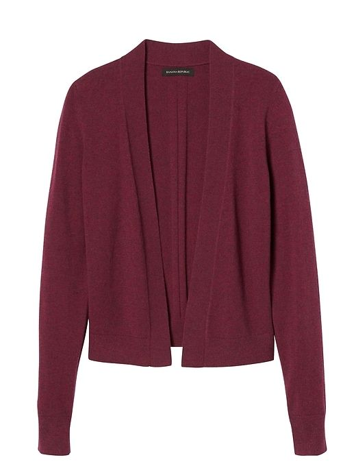 Banana Republic Womens Feather Touch Open Cardigan Cranberry