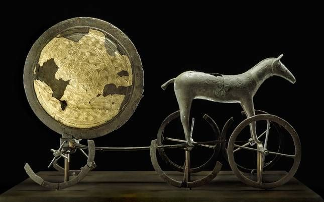 Chariot of the Sun, Danish, 1400 BC, Bronze Age, National Museum of Denmark
