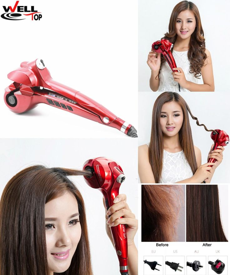 [Visit to Buy] 2017 Hair Curling Iron Hair Care Styling Scissors Automatic Ceramic Hair Curler for long Hair Weave #Advertisement