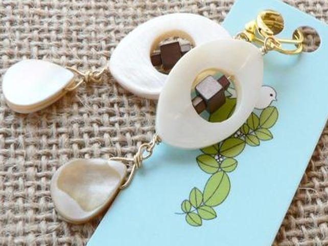 #earrings #shell #natural #silver #kaunis