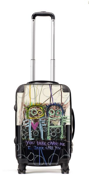 Suitcase (56cm) You take care me - more information http://poulpavashop.com/suitcases/you-take-care-me-koffer-groot-56cm.html