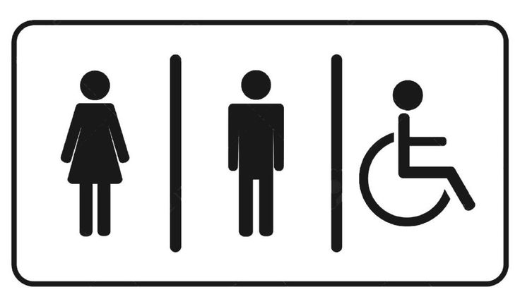 Restroom Toilet Symbol Signage Man Woman And Invalid One Royalty Free Stock Vector Wc Pictogram | MlBigeLow.com