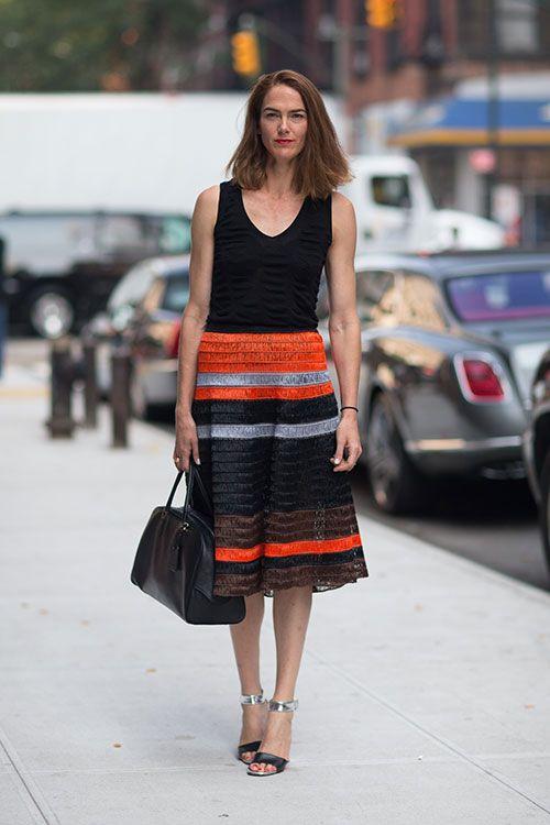Street Style New York Fashion Week Spring 2014 J J Martin Project Longskirt Pinterest