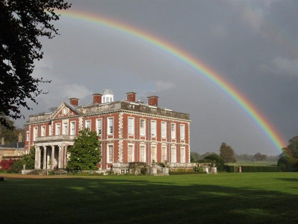A beautiful rainbow over Stansted House.. a wonderful wedding venue!