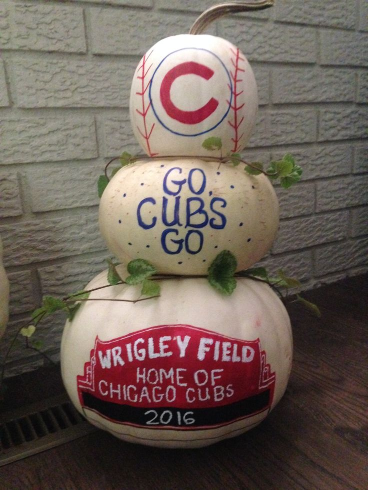 Chicago Cubs 2016 pumpkin