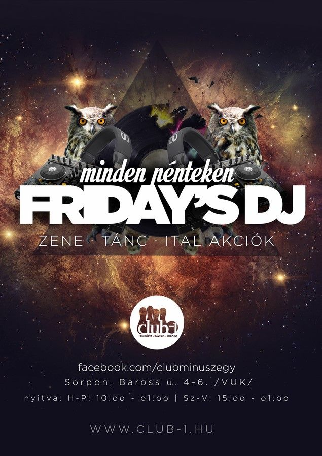 friday's dj flyer design by darellart.hu