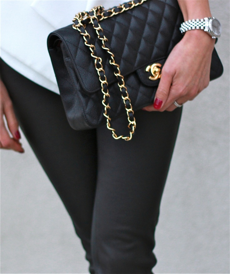 Chanel black classic flap