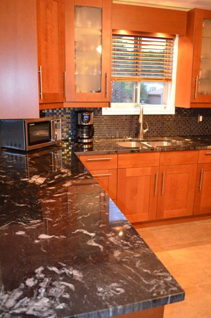 Titanium Granite 3cm Polished Kitchens Backsplashes And
