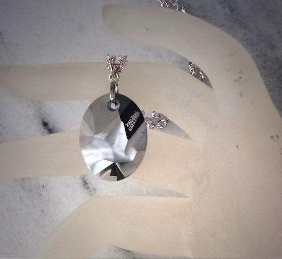 Swarovski crystal 26mm kaputt oval pendant by CrystallizedByLena