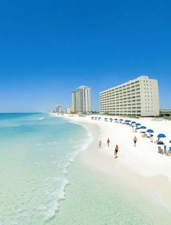 Walk along the pristine shores of Navarre Beach.
