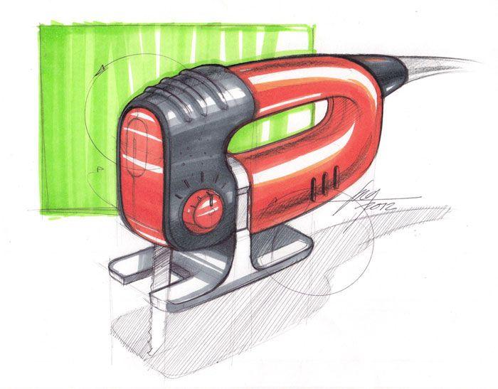 Sketch of a Jigsaw by Designer Spencer Nugent