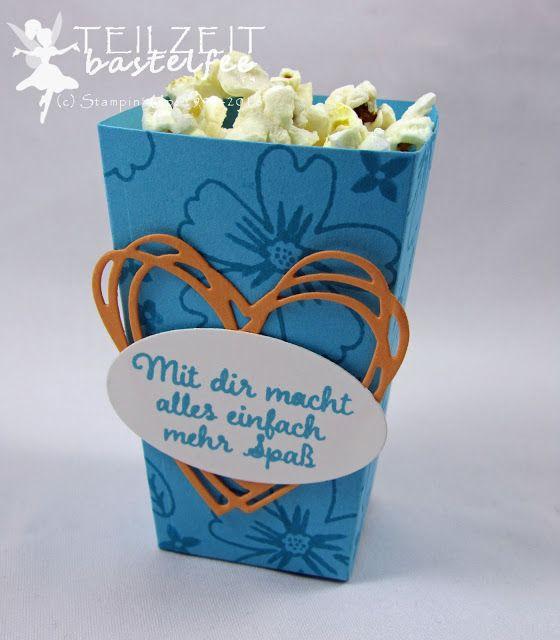 die besten 25 popcornt te basteln ideen auf pinterest popcorn boxen halloween deko stampin. Black Bedroom Furniture Sets. Home Design Ideas