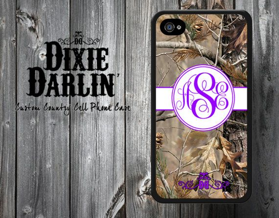 Monogram Grape Purple & Camo Country Chic by DixieDarlinApparel